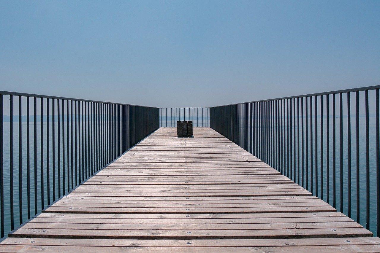 bridge, lines, modern