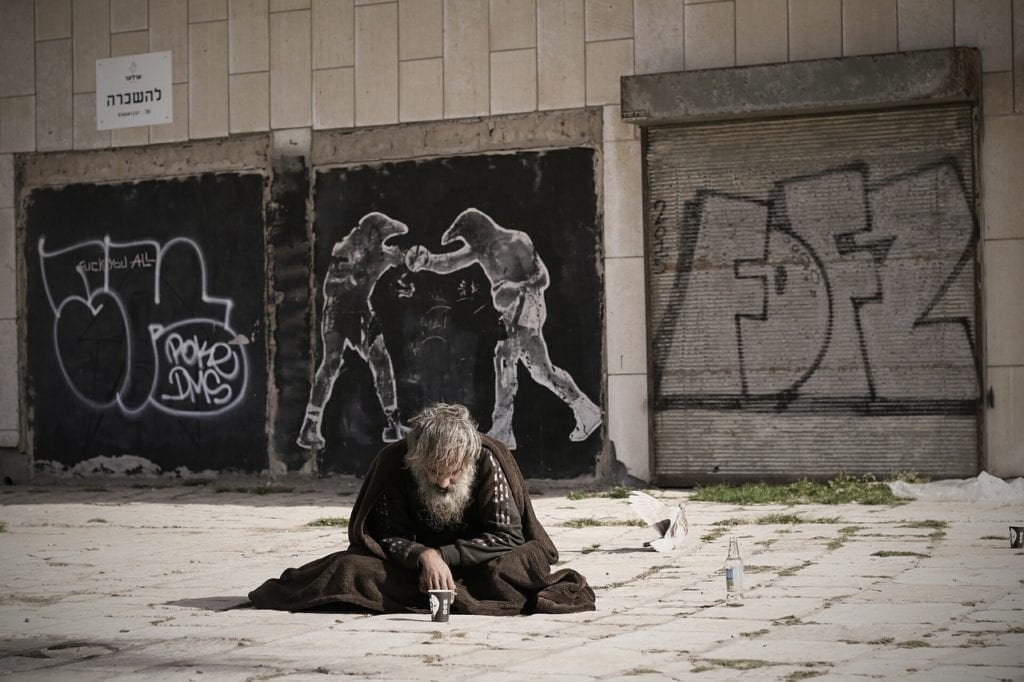 homeless, street, art