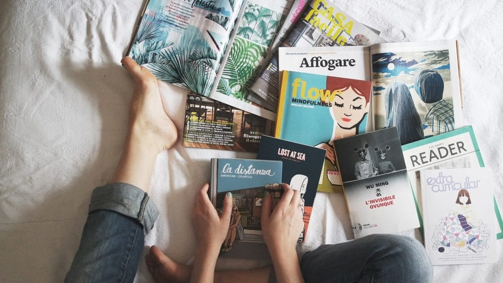 reading, books, magazine